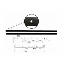 Kovanie na posuvné dvere koľajnica retro 2x1,5m