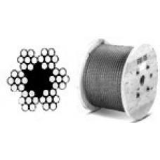 Oceľové lano 4,0 mm /6x7/ DIN3055