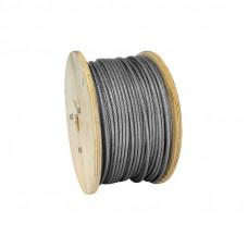 Oceľové lano poplastované v PVC 2/3 mm DIN3055 6x7